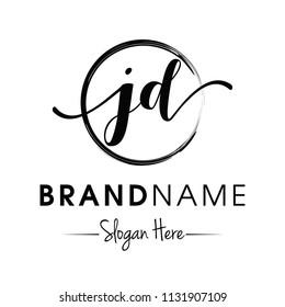 jd logo images stock photos vectors shutterstock https www shutterstock com image vector monogram initial jd typography logo design 1131907109