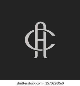 Monogram Initial Letter AC /CA Hipster Lettermark Logo For Branding or T shirt Design