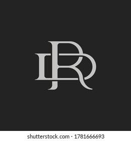 Monogram Initial Letter RD or DR Logo Template Design