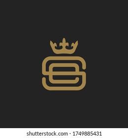 Monogram Initial Letter SE or ES Hipster Lettermark Logo For Branding or T shirt Design