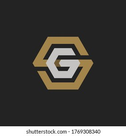 Monogram Initial Letter SG or GS Logo Template Design For Branding