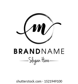 Monogram / Initial M for jewellery logo design inspiration vector