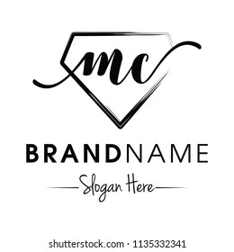 Monogram / Initial mc for jewellery logo design inspiration vector