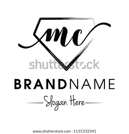 Monogram Initial Mc Jewellery Logo Design Stock Vector (Royalty Free ...