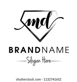 Monogram / Initial md for jewellery logo design inspiration vector