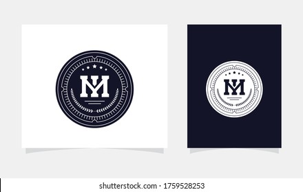monogram initial MI or IM logo design