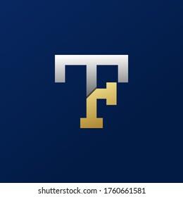 monogram initial TF logo design