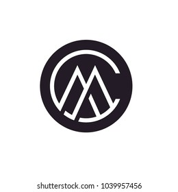 Monogram / Initials CM or MC logo design inspiration