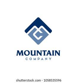 Monogram Initials MC CM Square logo design