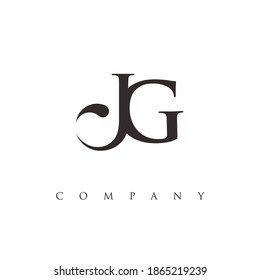monogram JG logo design vector