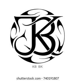 Monogram KB,BK