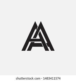 monogram letter AA initial template logo brand identity