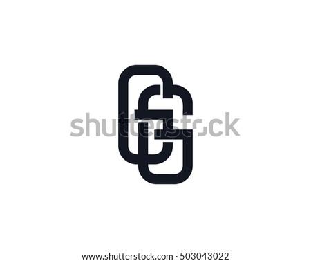 monogram letter g logo design template
