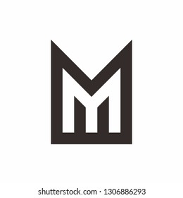 Monogram Letter M Business Company Vector Logo Design