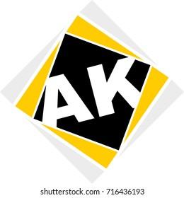monogram logo ak