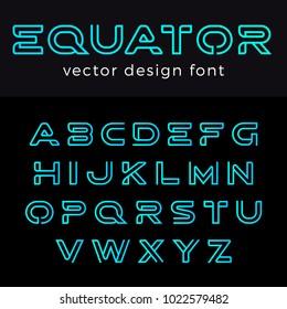Monogram Logo Font vector alphabet design Negative space linear style.\nABC Letter Logotype templates. Creative outline typeface