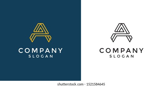 Monogram logo of letter AA in vector format. Editable and easy to custom as your needs