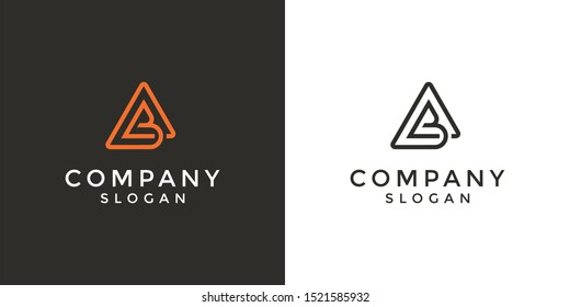 Monogram logo of letter AB in vector format. Editable and easy to custom as your needs