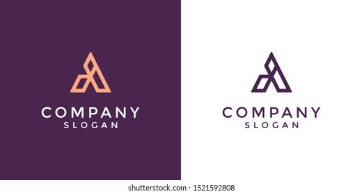 Monogram logo of letter AI in vector format. Editable and easy to custom as your needs