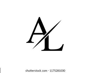 Monogram Logo Letter Al Sliced Stock Vector Royalty Free 1175281030