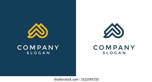 Monogram logo of letter AP in vector format. Editable and easy to custom as your needs