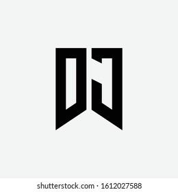 monogram logo letter DJ or JD modern, sporty, simple, on white background