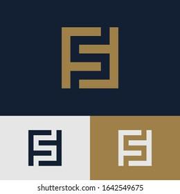 monogram logo letter FF modern, sporty, simple, interlock