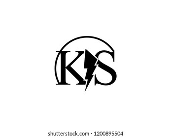 Monogram Logo Letter Ks Split By Stock Vector Royalty Free 1200895504