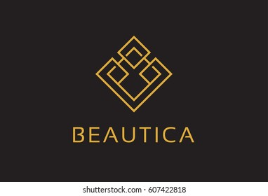 Monogram Logo Template Vector Design, Emblem, Design Concept, Creative Symbol, Icon