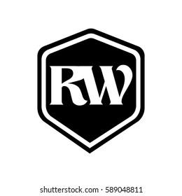 Monogram Logotype Black Hexagon
