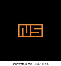 monogram NS / initial NS logo design inspiration