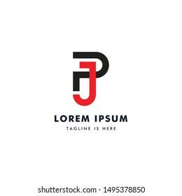 Monogram PJ Letters Design, Modern Design Initials PJ.