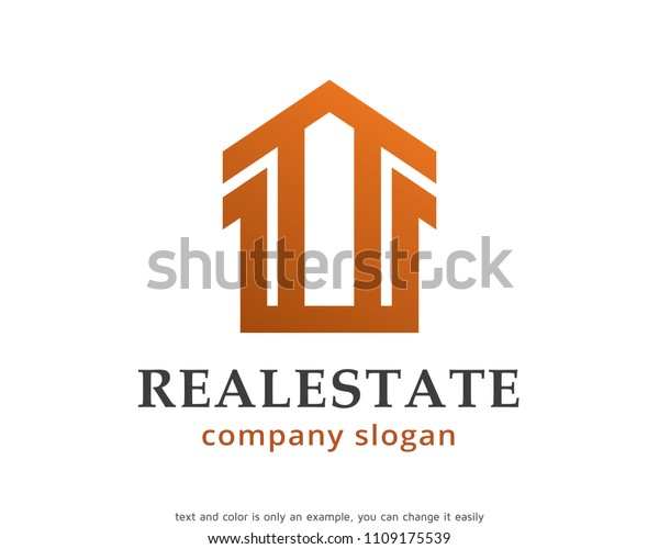 Monogram Real Estate Logo Symbol Template Stock Vector Royalty Free 1109175539