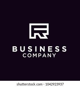 Monogram RF/ Initial RF for logo design inspiration