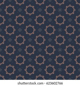 Monogram Seamless Vector Pattern Background.