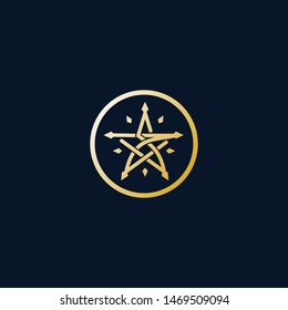 Monogram SZ Star Template Simple Minimalist Cool Logo Vector