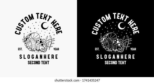 monoline design, monoline logo, mushroom drawing logo