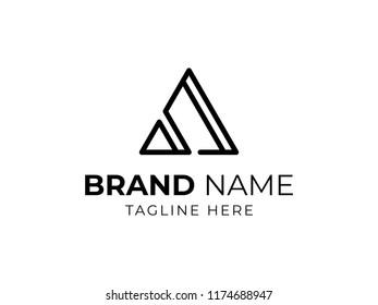 Monoline Triangle Logo