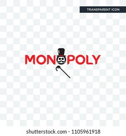 monopoly vector icon isolated on transparent background, monopoly logo concept