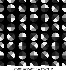 Monotone black,white and grey Modern and trendy geometric polka dot 4 quaters seamless pattern vector design for fashion ,fabric,wallpaper,and all prints