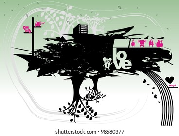 Monster abstract vector