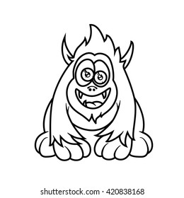 Monster alphabet coloring pages: letter A