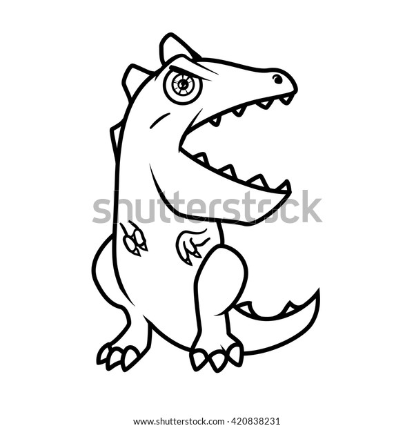 Monster Alphabet Coloring Pages Letter E Stock Vector Royalty Free 420838231
