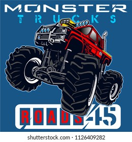 monster car club,vector car illustration