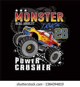 monster car club,vector car illustration - Vector