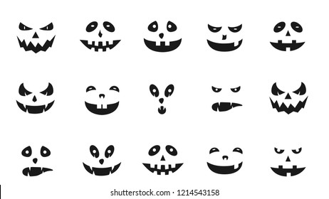 Monster Cartoon Charater Face Icons Sample Vector for Your Design