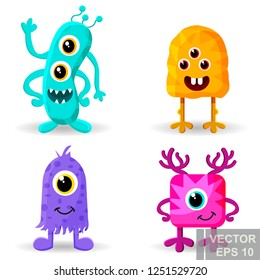 Monster. cartoon style. Funny. Bright. Children's. For your design.