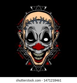 monster clown vector for commercial use