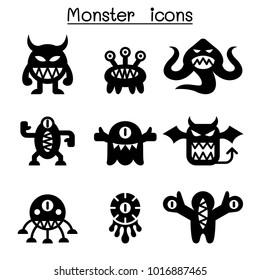 Monster &  icon set