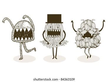 monster illustration/vector